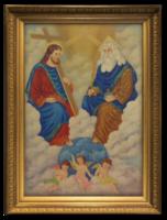Németh Z.: 'Mennyei királyság', 1966 - Nagyon szépen megfestett vallási jelenet ábrázolás
