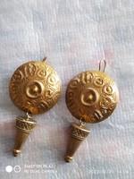 Aranyozott ezüst fülbevaló 925