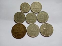 8 darab  Kopek 1961 - 1988  !!