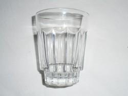 Retro üveg pohár - 1970-es évekből