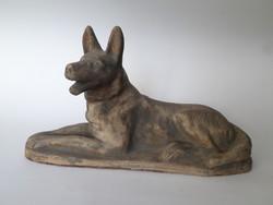 Kutya szobor, antik, terrakotta (32*18 cm)