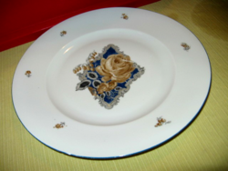 Drasche barna rózsás tányér