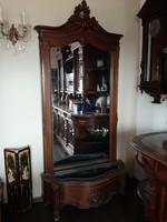 Bècsi barokk àlló tükör konzolasztallal 276 cm magas