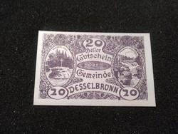 Hajtatlan 20 Heller 1920