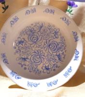 Kék mintás mély Gránit tányér