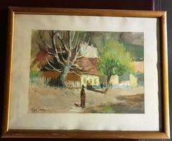 ROZS JÁNOS 1901 - 1987- Utca alakkal-