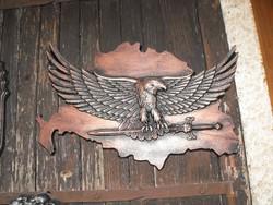 Trianon Fém Nagy Magyar Turul címer sas 36cm Hőálló Fagy álló kemence kandalló dísz