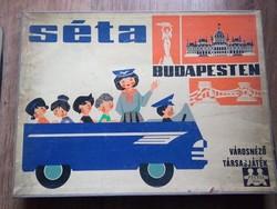 Séta Budapesten -  60-as évek városnéző társasjátéka Ritka!