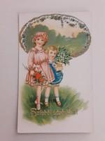 Régi képeslap 1942 gyerekek levelezőlap