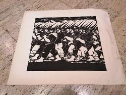 DERKOVITS GYULA (1893-1934) Dózsa sorozat I. fametszet 60x70 cm