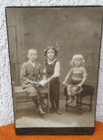Kemény karton Fotó Antik,Wien,Bécs 1912.Kedves dekoratív,gyüjtemény!