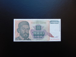 1000 dinár 1994 Jugoszlávia