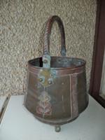 Antik 19 sz. bronz vörösréz bogrács