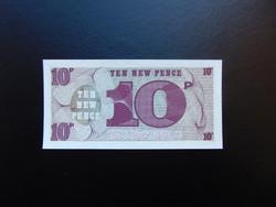 Anglia 10 pence katonai pénz Hajtatlan bankjegy
