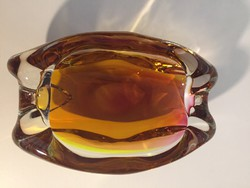 Művészi üvegtál, kristályüveg - crystal glass bowl (13)