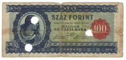 100 forint 1946 Hivatalosan érvénytelenített 3.