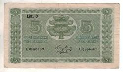 5 márkkaa 1922 Finnország