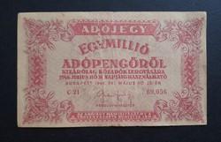 1 millió adópengő 1946 F.