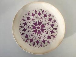 Gránit lila mintás falitányér falitál