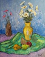 Csendélet sárga vázával
