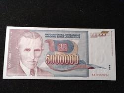 Jugoszlávia 5000000 Dínár 1993