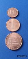 Olaszország 1/2/5 cent 2002 (BU) EF