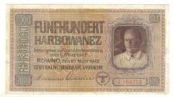 500 karbowanez 1942 Német megszállás Ukrajna 2.