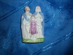 Antik pici szent család porcelán figura