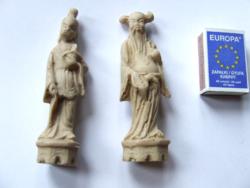 Régebbi műgyanta keleti bölcs szobor pár, keleti figurák
