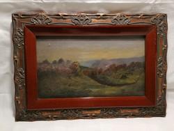 P.K. 1905 jelzéssel olaj-fa festmény, tájkép, szép keret