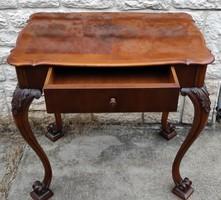 Asztal 1 fiókkal bécsi barokk gyönyörű. bútor! Különleges darab!. kiváló àllapotú mint a fotókon!