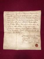 Gyöngyös. 1750. február 1.-Trencséni Antal Keresztlevele! Kiállította:Kálmán János József  plébános