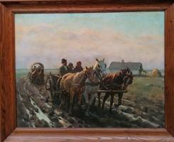 Viski János (1891-1987) Úton hazafelé