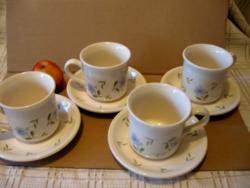 Angol kék virágos kávés, teás szettek