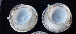 Limoges, aranyozott leveses csészepár