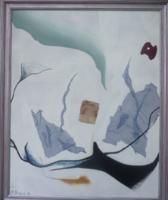 A. UNGERER Absztrakt, 1984 - kerettel 90x110 cm, olaj, modern