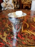 Ezüst Diannás jelzéssel keresztelő pohár.