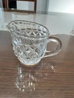 Üveg kancsó - díszes, csiszolt, mintás üveg