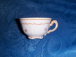 Régi Zsolnay barokk porcelán kávés csésze (0-1)