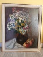 1946-os jelzett virágcsendélet.