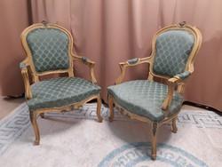 Francia barokk karszék fotel, párban