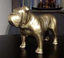 Réz szobor bulldog