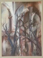 Lichtenwaller Zoltán akvarellje