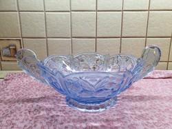 Gyönyörű, 2 füles retro kék üveg tál eladó!