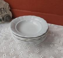 6  db Zsolnay Indamintás mélytányér,  tányér Paraszti tányérok, nosztalgia