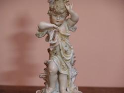 Porcelán petróleum lámpa alap vagy kandalló dísz