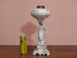 Dresden porcelán petróleum lámpa test