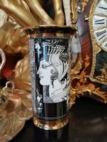 Hollóháza Szász Endre  porcelán váza. FL-01