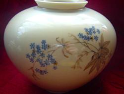 Régi nefelejcses Weimar váza