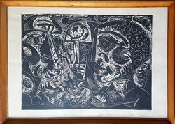 Hincz Gyula 50 x 70 cm fametszet
